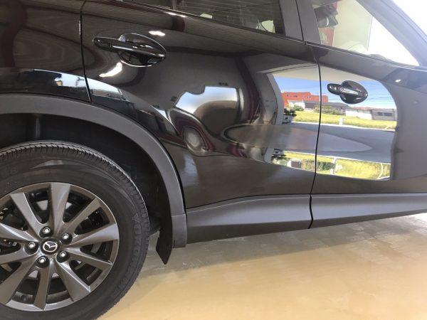 マツダCX5の側面の板金塗装 キズ、へこみの修理