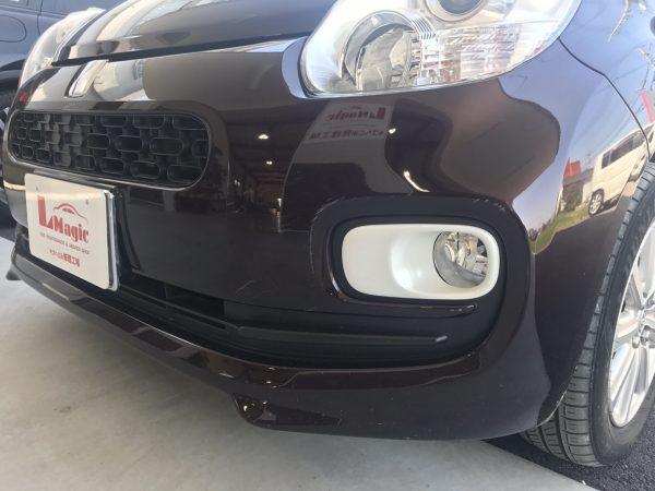 トヨタ パッソ フロントバンパーキズ修理