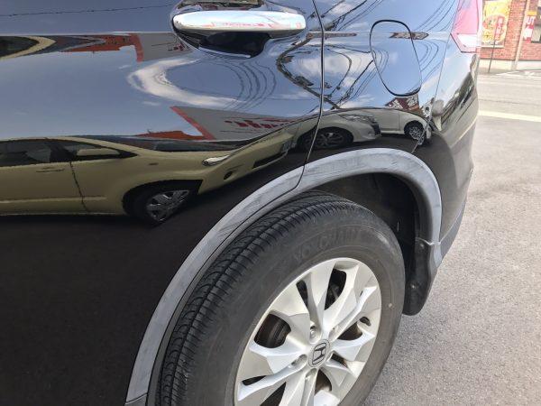 ホンダ CRV ドア、リアフェンダー、リアバンパー擦り傷 修理