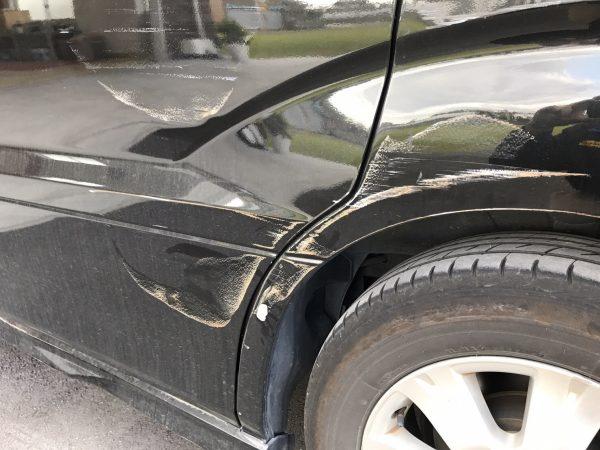 トヨタ アルファード スライドドア、リアフェンダー キズ修理