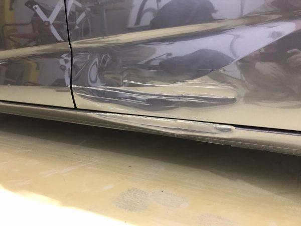 ホンダ フリード ドア、ステップ傷修理