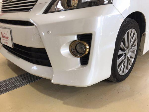 トヨタ ヴェルファイア バンパー修理