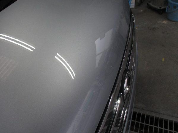 日産 軽自動車のボンネットきず修復
