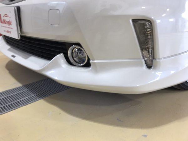 トヨタ プリウスα フロントエアロ修理