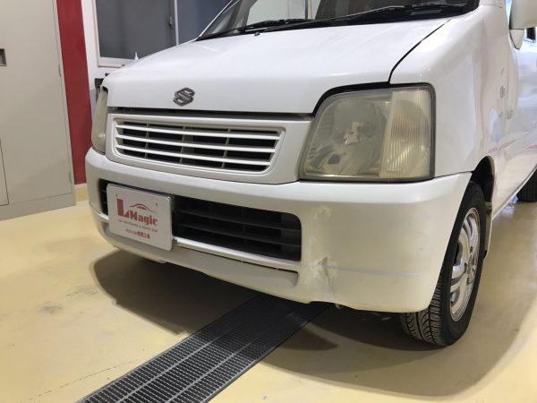 スズキ ワゴンR フロントバンパー修理