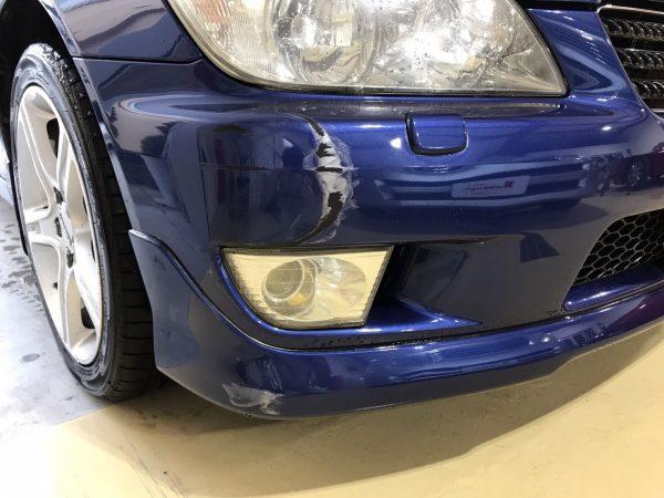 トヨタ アルテッツァ フロントバンパー修理